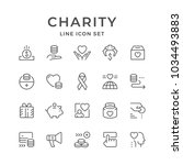 set line icons of charity | Shutterstock .eps vector #1034493883