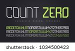 vector futuristic display font... | Shutterstock .eps vector #1034500423