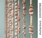 shell mobiles or seashell... | Shutterstock . vector #1034500588