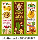 cinco de mayo banners for... | Shutterstock .eps vector #1034502379