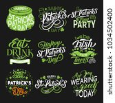 saint patrick day party green... | Shutterstock .eps vector #1034502400