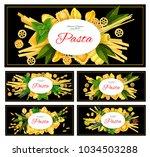 italian pasta ravioli and... | Shutterstock .eps vector #1034503288