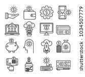 money vector icons | Shutterstock .eps vector #1034507779