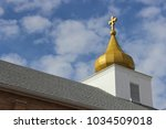 Ornate Country Church With Gol...