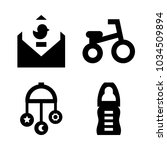 icons baby with crib toy ... | Shutterstock .eps vector #1034509894
