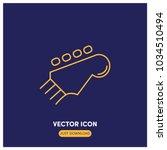 electric guitar vector icon...