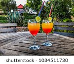 the striated  colorful  fruity... | Shutterstock . vector #1034511730
