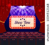 show time concept. cinema and... | Shutterstock .eps vector #1034512168