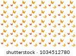 butterfly seamless background.... | Shutterstock .eps vector #1034512780