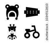 icons baby with giraffe  hat ... | Shutterstock .eps vector #1034512810