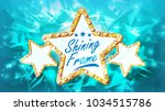 three golden star frame vector. ...   Shutterstock .eps vector #1034515786