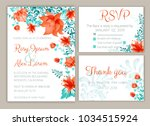 vector set of invitation cards... | Shutterstock .eps vector #1034515924