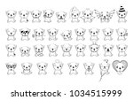 big set of little dogs with... | Shutterstock .eps vector #1034515999
