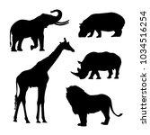 black silhouette of african...   Shutterstock .eps vector #1034516254