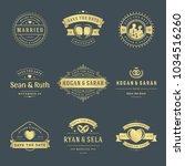 wedding logos and badges vector ... | Shutterstock .eps vector #1034516260