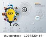 idea concept for business...   Shutterstock .eps vector #1034520469