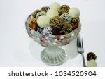 crystal vase with organic ... | Shutterstock . vector #1034520904