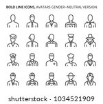 gender neutral avatars  bold... | Shutterstock .eps vector #1034521909