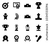 solid vector icon set   target... | Shutterstock .eps vector #1034533096