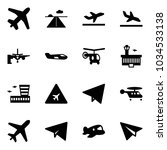 solid vector icon set   plane... | Shutterstock .eps vector #1034533138
