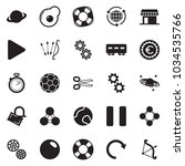 solid black vector icon set  ... | Shutterstock .eps vector #1034535766