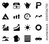 solid vector icon set   heart...