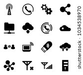 solid vector icon set   antenna ... | Shutterstock .eps vector #1034538970