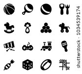 solid vector icon set   ball... | Shutterstock .eps vector #1034539174