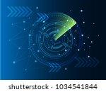 scientific futuristic...   Shutterstock .eps vector #1034541844