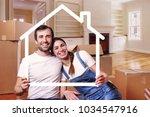 portrait of a couple in love... | Shutterstock . vector #1034547916