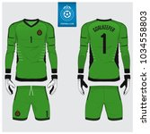 goalkeeper jersey or soccer kit ... | Shutterstock .eps vector #1034558803
