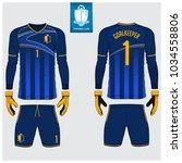 goalkeeper jersey or soccer kit ... | Shutterstock .eps vector #1034558806