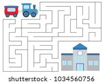 educational maze game for... | Shutterstock .eps vector #1034560756