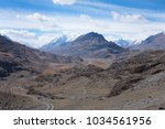 a typical glaciated u shaped... | Shutterstock . vector #1034561956