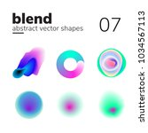 vector element with nice blend... | Shutterstock .eps vector #1034567113