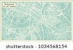 richmond virginia usa city map... | Shutterstock .eps vector #1034568154