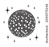 disco ball vector icon | Shutterstock .eps vector #1034570146