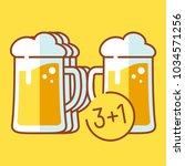 buy three and get one beer mug... | Shutterstock .eps vector #1034571256
