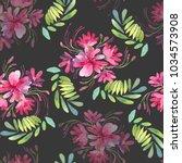 seamless watercolor pattern... | Shutterstock . vector #1034573908