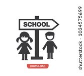 school signal and children... | Shutterstock .eps vector #1034575699