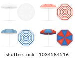 beach umbrella stock... | Shutterstock . vector #1034584516