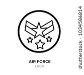 air force logo images  linear... | Shutterstock .eps vector #1034586814