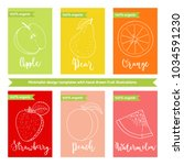 fruit label or sticker template ... | Shutterstock .eps vector #1034591230