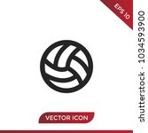 volley ball icon | Shutterstock .eps vector #1034593900
