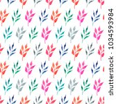 floral seamless pattern with... | Shutterstock . vector #1034593984