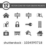 real estate vector icons for... | Shutterstock .eps vector #1034595718