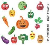 cartoon plant symbols.... | Shutterstock .eps vector #1034596048