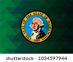 washington flag vector... | Shutterstock .eps vector #1034597944