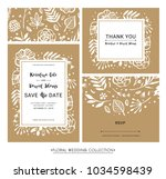 save the date. wedding... | Shutterstock .eps vector #1034598439