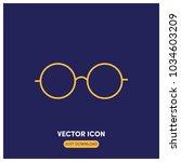 glasses vector icon illustration
